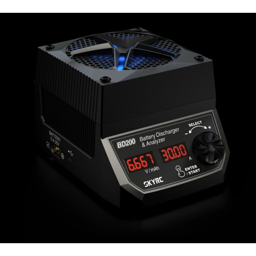 SkyRC BD200 200W 30A Battery Discharger & Analyser For LiPo LiFe LiHV NiCd NiMH Pb Battery